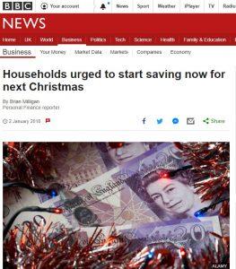 save for Christmas BBC 2Jan18